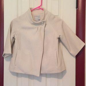 Cropped swing coat